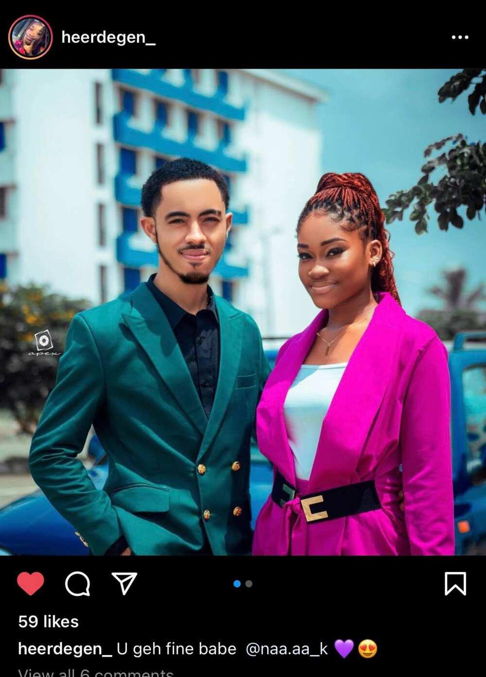 Afia Schwar's twin son flaunts his beautiful girlfriend as he reveals her name (Photos)