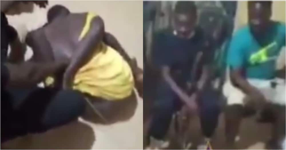 Akyem Abomosu Police seriously whip handcuffed suspect with broom in video