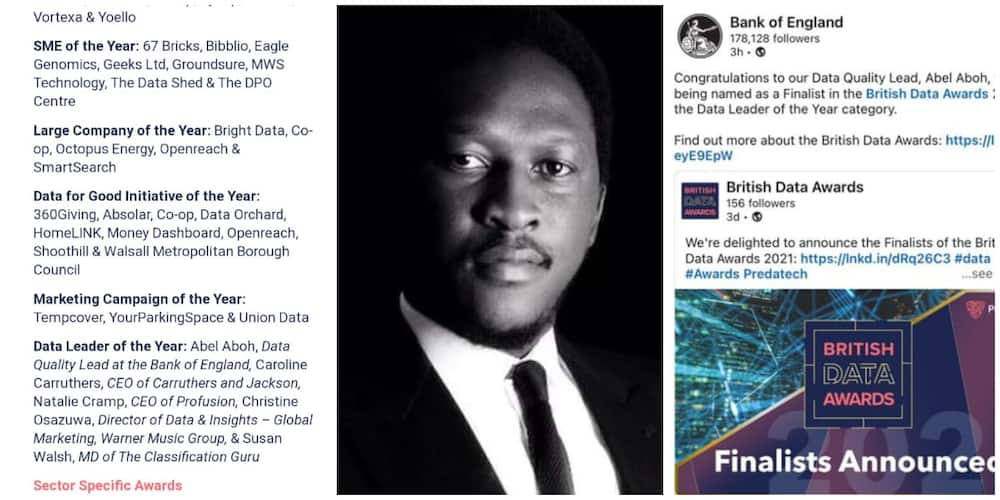 Nigerian-Born British Achieves Success, Emerges Finalist in Big European Contest, Bank of England Reacts