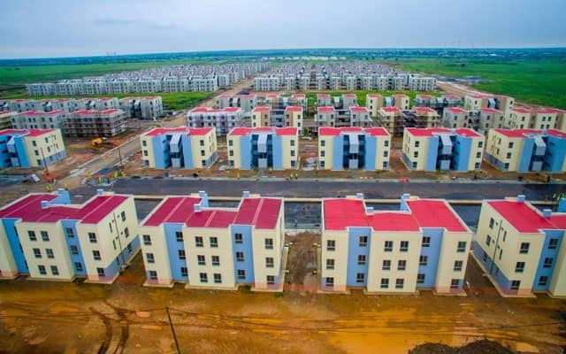 A photo of a housing project
