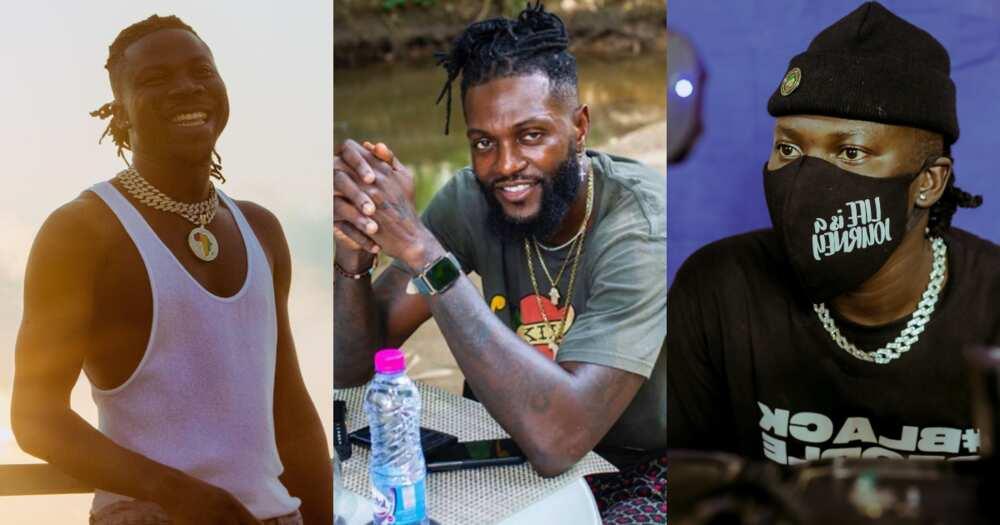 Stonebwoy treats Adebayor with good music at his Togo mansion (video)