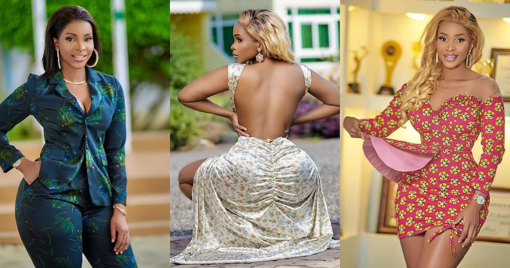 Benedicta Gafah wows fans with stunning photos in bodycon jeans