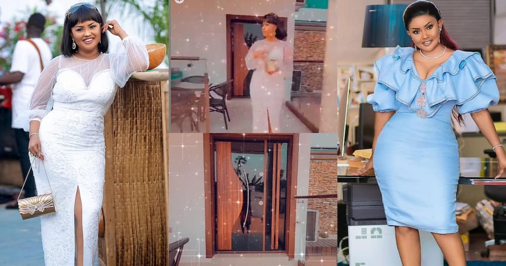 McBrown Shows Off Her Expensive Living Room And TV As She Jams To Medikal's Song At Home ( Video)