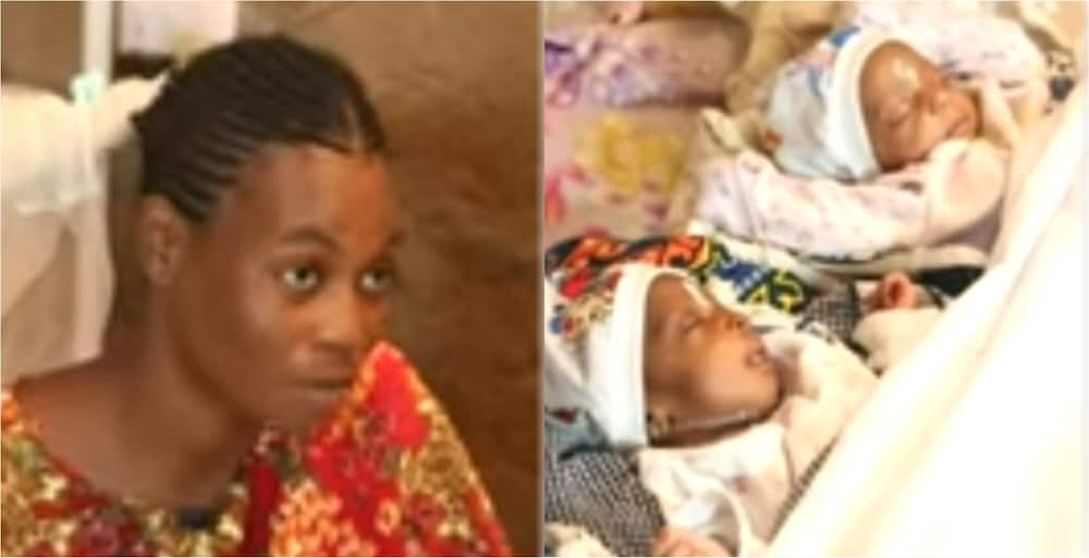 Video: Mother of triplets living in unfinished building cries for help to feed her babies