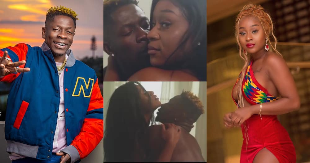 Shatta Wale and Efia Odo in Bad Man music video