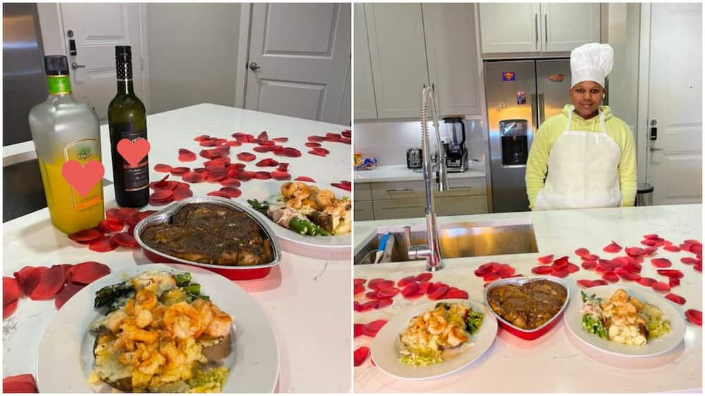 14 year old boy cooks amazing dishes for sister and her husband to celebrate love, photos of his food go viral