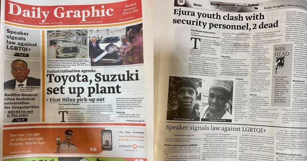 Ejura Protest: Daily Graphic Fails To Capture Killings On Front Page; Ghanaians React