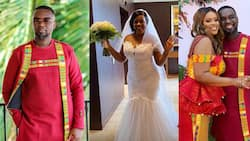 Settled2020: Joe Mettle's wife show serious dance moves before white wedding (video)