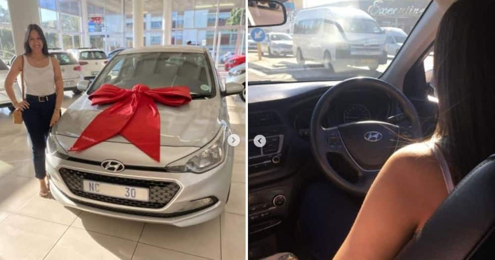 Woman upgrades car months after buying her first one, proud moment