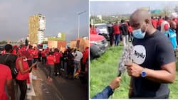John Dumelo spotted at NDC's 'March For Justice' demonstration in a new video