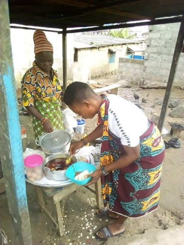 Meet Francis Tetteh the NVTI graduate who sells yam to cater for his siblings