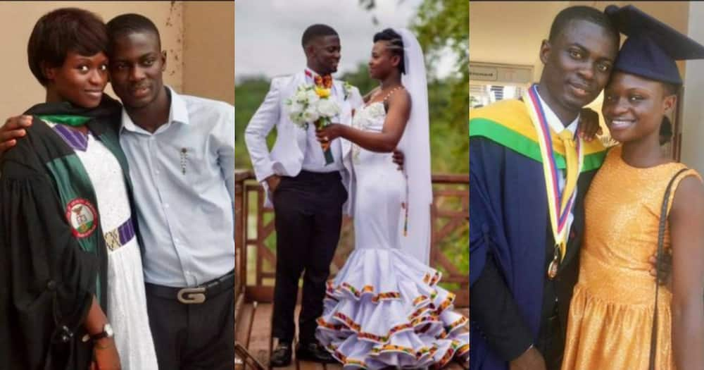 Odo Nsor: Man marries schoolmate; story of their beautiful love life told in photos