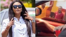 Town boys stop McBrown while she drives in town; beg to appear on United Showbiz in new video