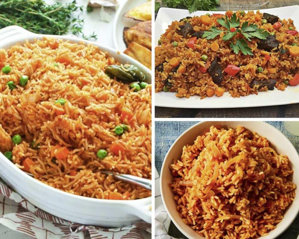 Traditional jollof rice Ghana recipe