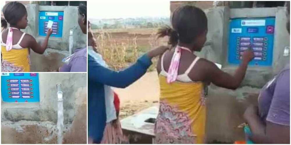 Nigerians react to video of water dispensing ATM machine