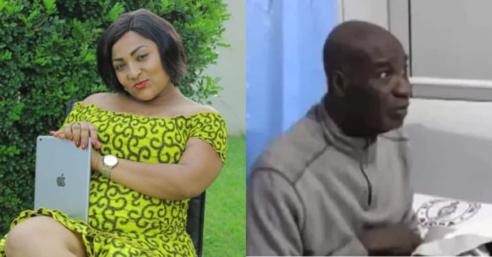 Kumawood actress drives from Kumasi to personally deliver loads of goods at ailing actor Emmanuel Armah's house