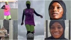 Meet skillful female footballer who sells Kola Nut and Bitter Kola, Her Video Warms Hearts Online