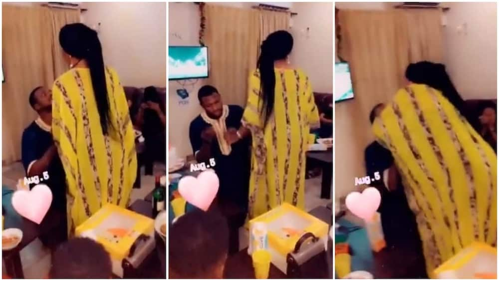 Moment a Lady is being forced to accept a proposal ring from her long time boyfriend