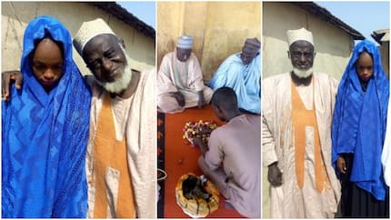 Outrage as photos of 70-yr-old man allegedly marrying underage girl drop