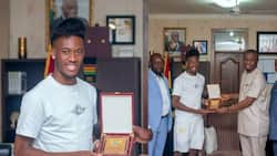 Chelsea's Hudson-Odoi meets sports minister; vows to support sports infrastructure