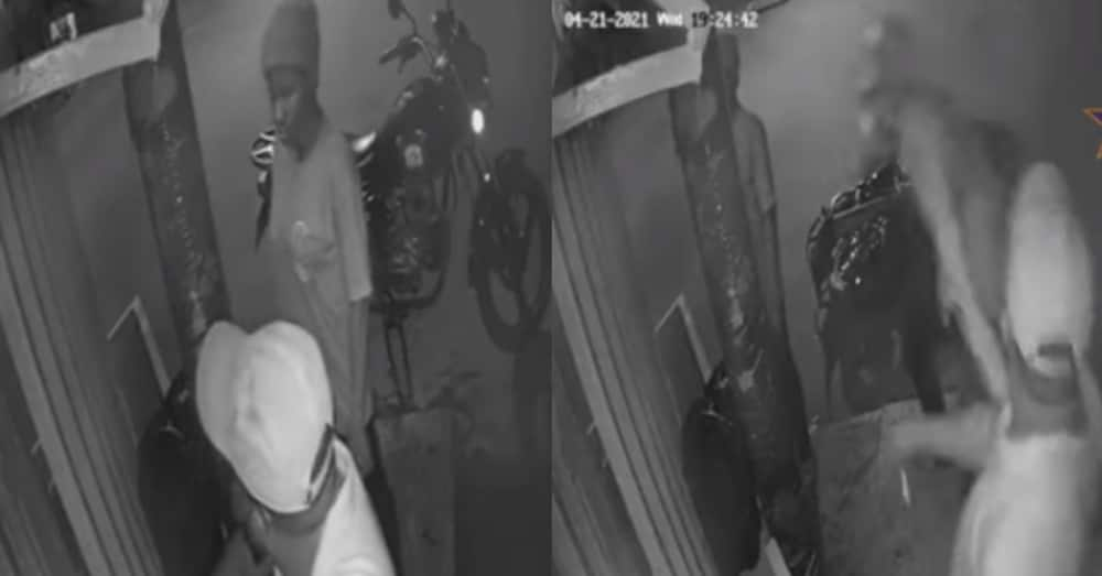 CCTV footage shows moments robbers attacked MOMO shop & took GHc 200k