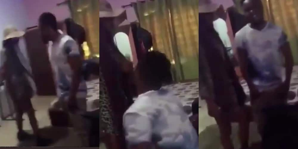 Two ladies dating one man show up at his place on same day and time; confusion erupts (video)