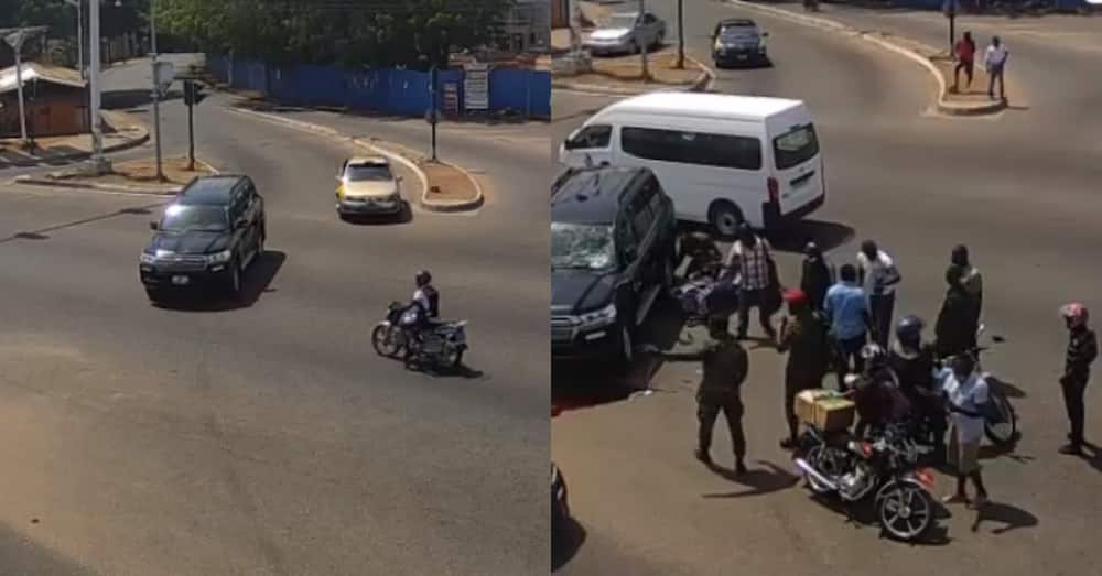 Live fatal accident in Accra gets captured on camera; video piles massive reactions