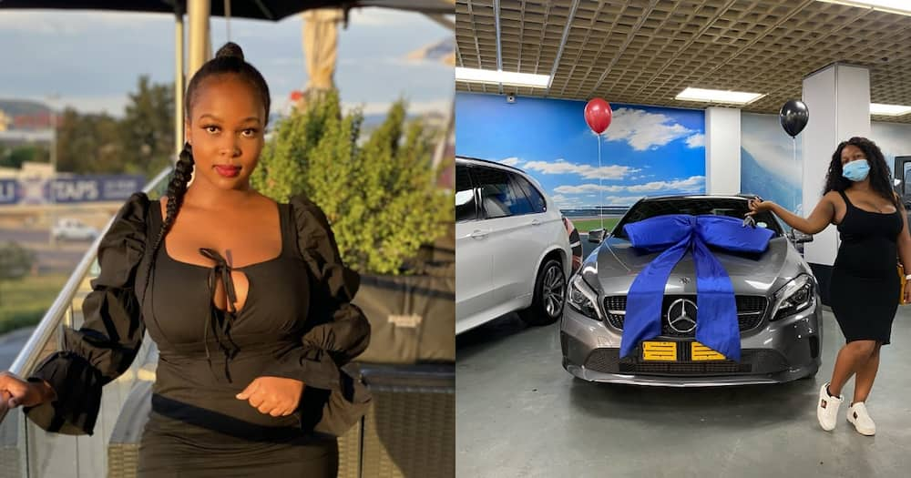 Mzansi Lady Flexes Birthday Gift From Mom, a Stunning Mercedes Benz