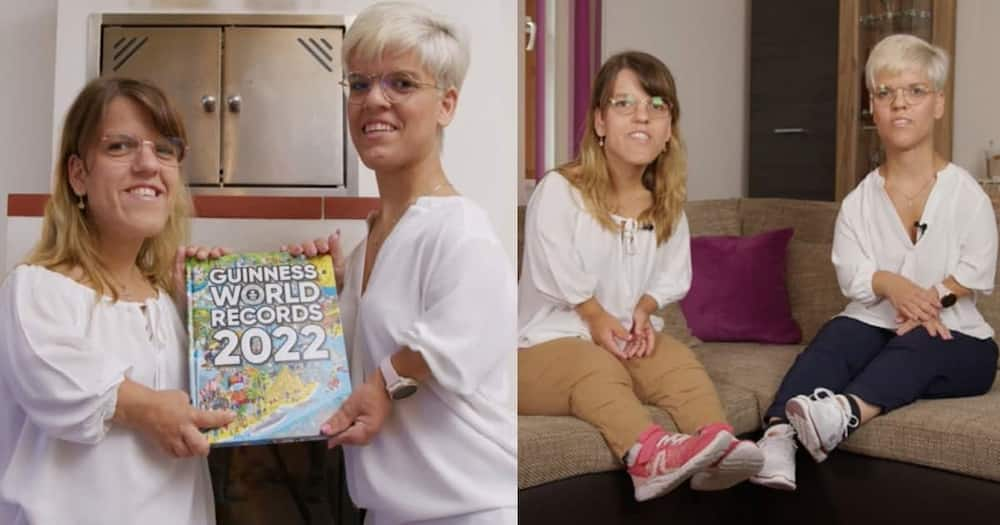 German sisters break the Guinness World Record for shortest female twins.