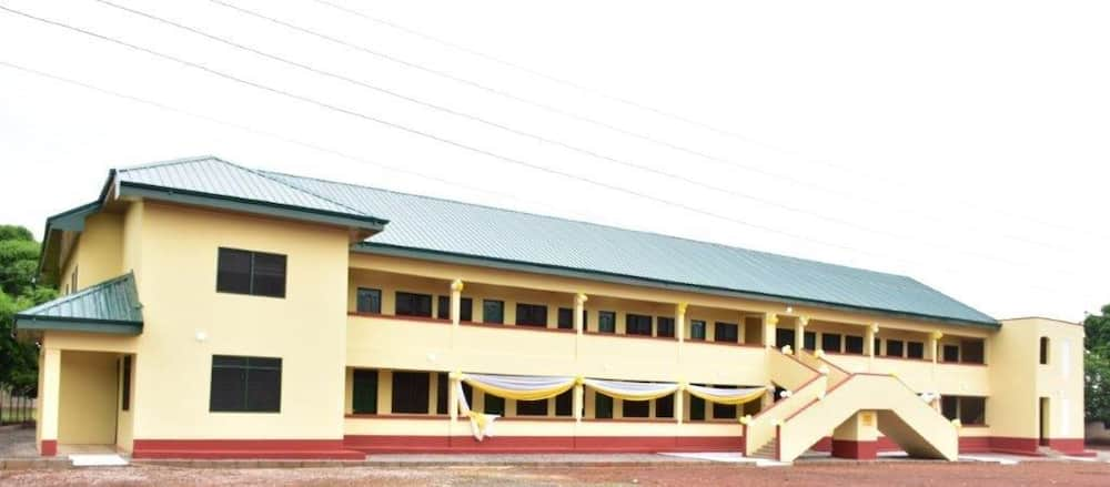 A front view of the 600 bed Girls Dormitory Block for Tamale Secondary School