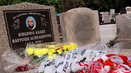 7 sad photos from KABA's graveside pop up on 1st anniversary and they are heartbreaking