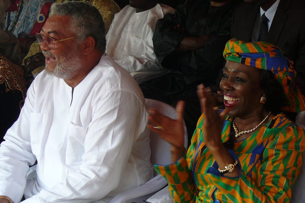 Photos of Late JJ Rawlings and his wife Nana Konadu which show they were inseperable