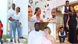 It's a scandal - Dumelo's wife reacts as video of actor kissing Nadia Buari's feet pops up