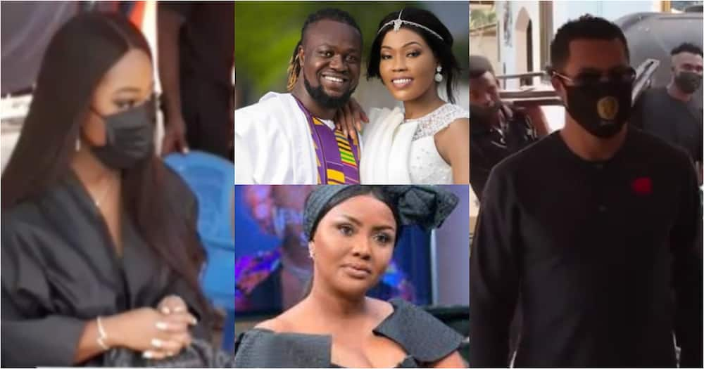 Jackie Appiah, McBrown, other stars mourn with Eddie Nartey at late wife's one-week ceremony (Videos)