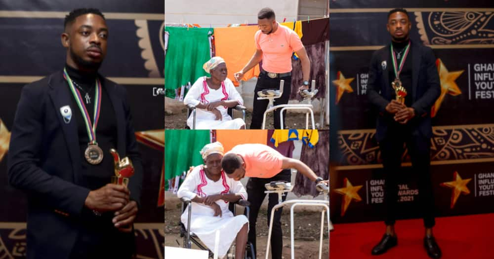 It's a calling: Policeman who repaired damaged traffic light donates walker to 70-year-old amputee