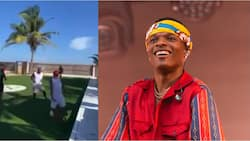 Nigerian Music Sensation Wizkid Spotted Throwing Ozil-Like Pass During Street Football Game