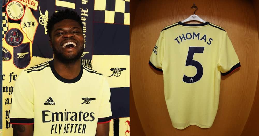 Ghana midfielder Thomas Partey switches jersey number at Arsenal