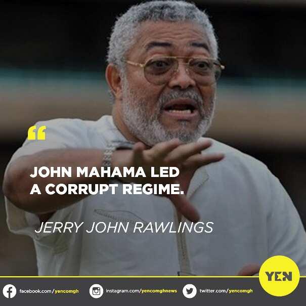 J.J Rawlings describes John Mahama's government as corrupt