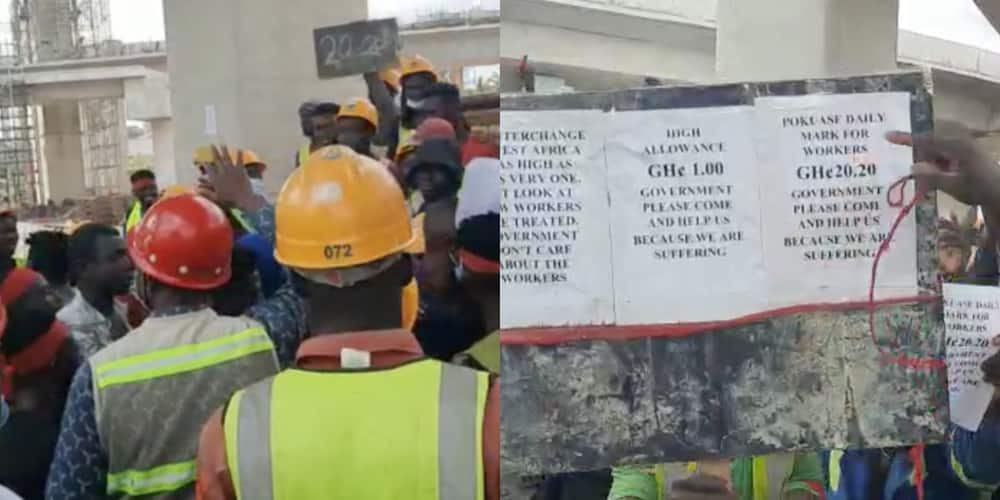GH¢20 daily is too small - Pokuase interchange workers say in demo