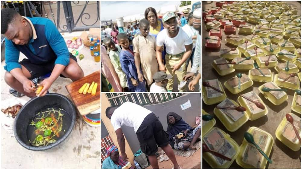I'm not a yahoo boy, I feed people from my pocket - Nigerian man who gave beggars food, money speaks