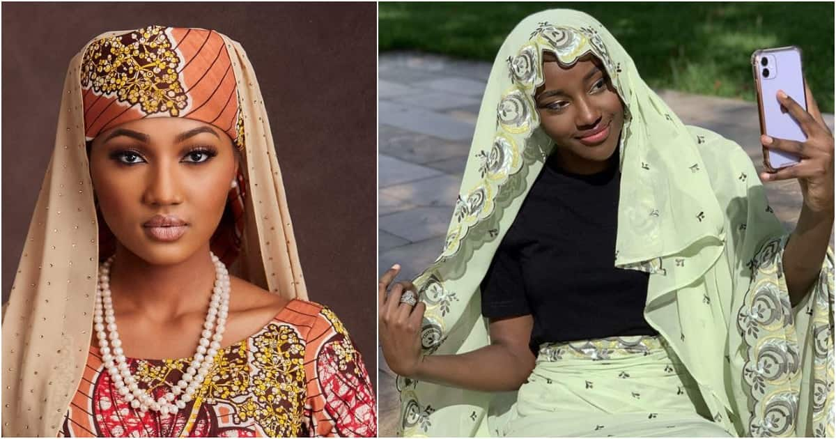 Zahra shows off beautiful rare photo of President Buhari's last born