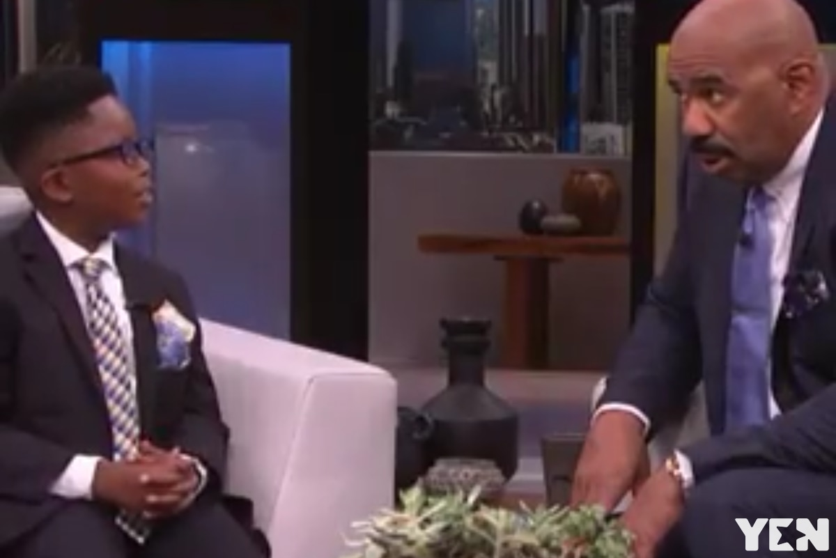 Steve Harvey to buy over 500 copies of book written by 8-year-old Ghanaian boy