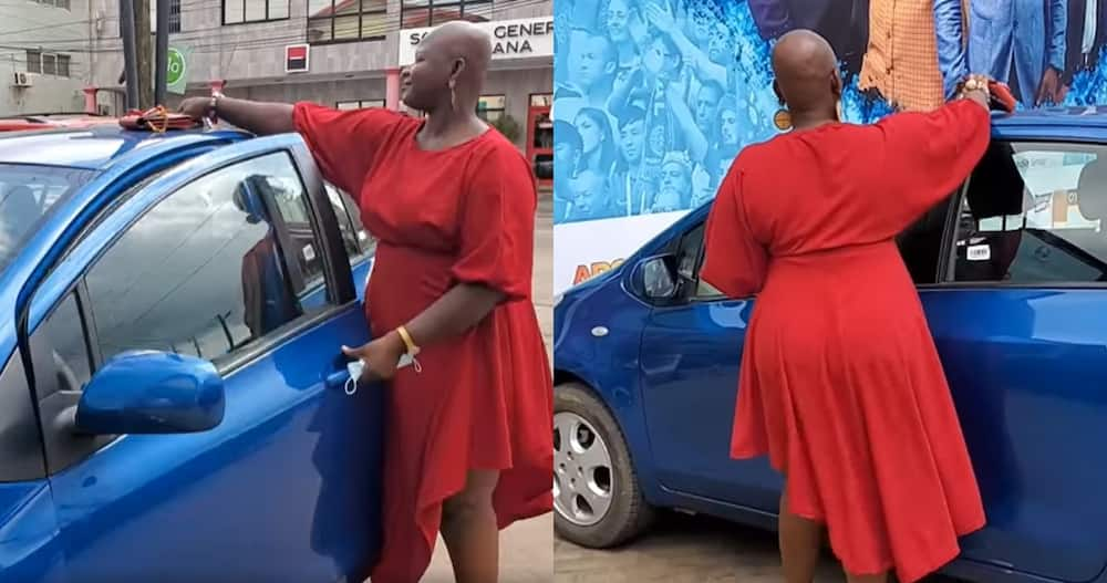 Eunice Godzi: Ghanaian lady who got first class drives for a living whilst pursuing her master's