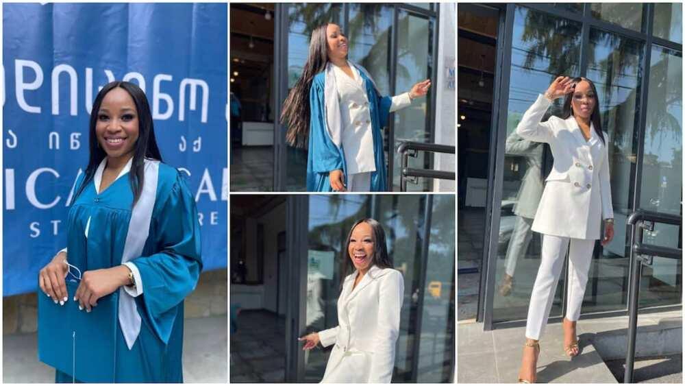 Adanna Akobundu dressed well on her graduation day.