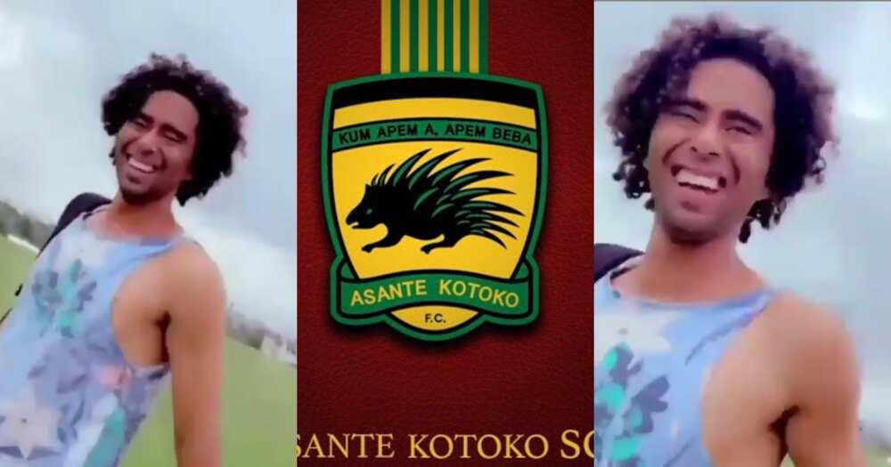 Wu kum apem a apem b3ba- Kotoko's Brazilian midfielder sing club's slogan in video