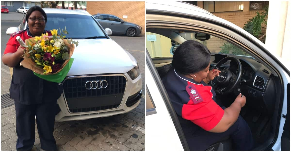 Lady leaves mum in joyful tears after gifting her a brand new car at work