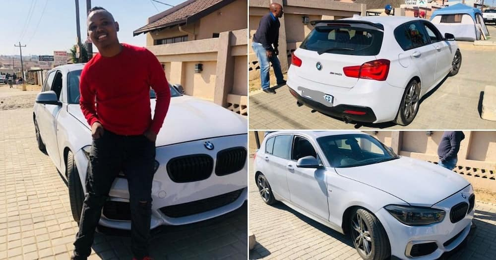 """Young man buys himself his dream car, flexes it online: """"Thank God"""""""