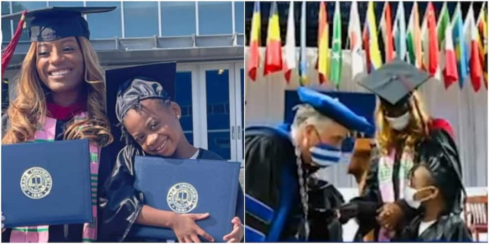 Joy as Single Mum Shares her Master's Degree Graduation Stage with 5-year-old Daughter who Receives Diploma
