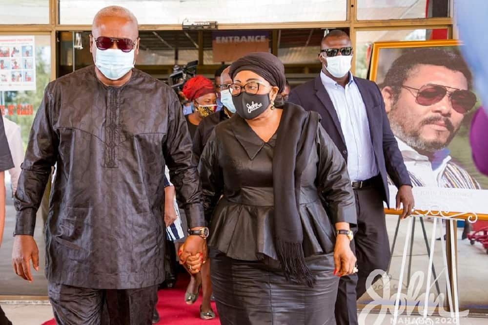 John Mahama and wife Lordina hold hands in public despite being hit by Papa Nu saga