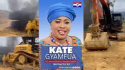 Video drops as anti-galamsey task force burn 8 excavators belonging to NPP Women Organiser Kate Gyamfua